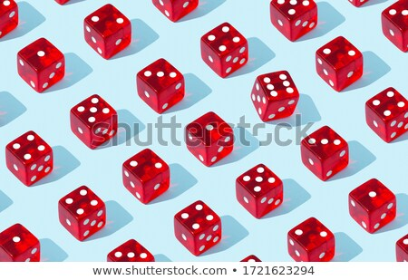 Six standing, black game dices Stock photo © djmilic