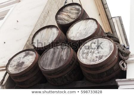 oude · houten · vat · geïsoleerd · witte · wijn - stockfoto © dolgachov