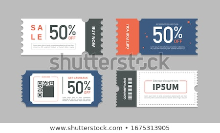 abstract sale and discount coupon voucher for business promotion Stock photo © SArts
