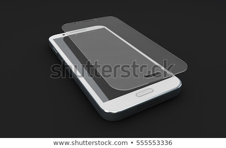 Screen protect Glass. Mobile accessory. 3d illustration Stock photo © tussik
