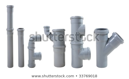 Modern water drain pipes. Isolated on white Stock photo © rufous