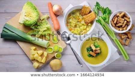 Káposzta leves étel háttér vacsora étel Stock fotó © M-studio