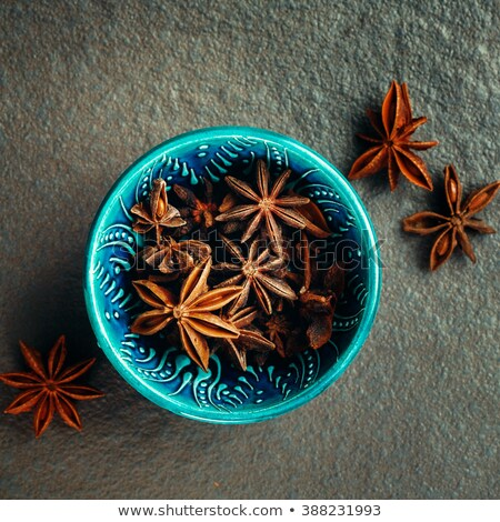 Authentic Blue Bowl Full of Anise Stars Stock photo © dariazu