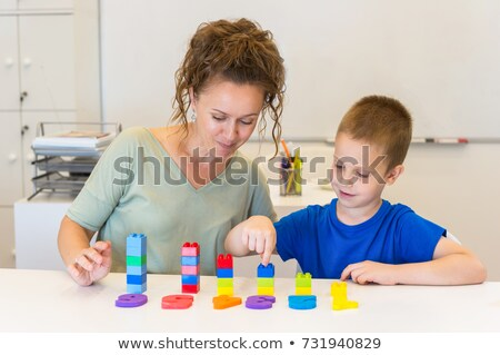 Children counting numbers in room Stock photo © bluering
