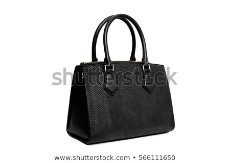 Black purse isolated on white Stock photo © gsermek