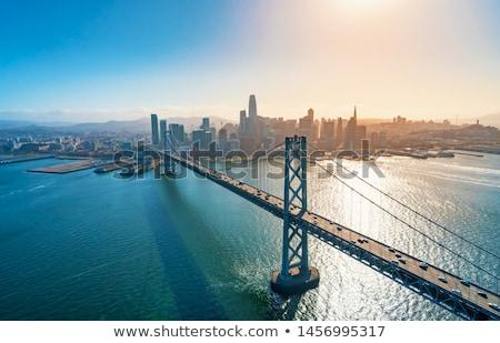 Сан-Франциско центра Финансовый район туманный Сток-фото © yhelfman