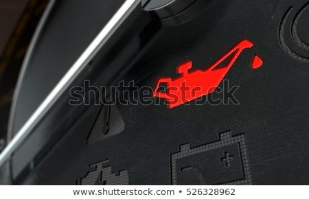 チェック 油 ダッシュボード 光 3dのレンダリング 極端な ストックフォト © albund
