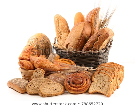 assorted bread and pastry isolated on white Stock photo © M-studio