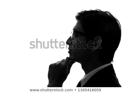 ázsiai üzletember oldalnézet egészalakos jóképű fiatal Stock fotó © szefei