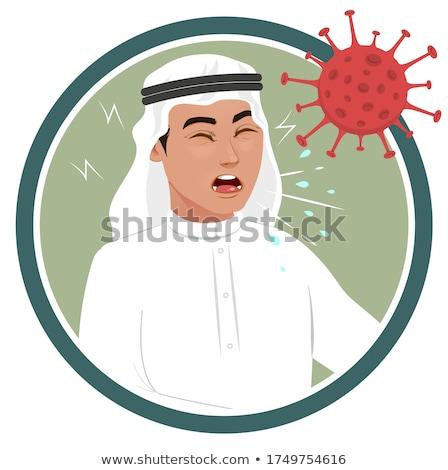 vektor · arab · család · muszlim · emberek · szaúdi - stock fotó © nikodzhi