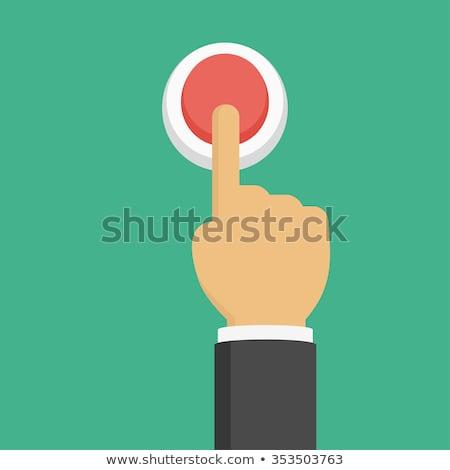 Mão tela sensível ao toque imprensa botão estilo vetor Foto stock © Andrei_
