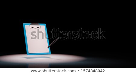 Clipboard with Blank Paper and Ball-point Pen Stock photo © make
