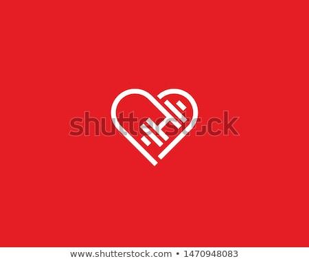 Güçlü kalp eller kas güçlü sevmek Stok fotoğraf © MaryValery