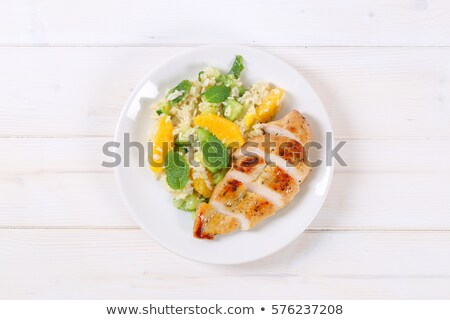 chicken fillet on a white plate stock photo © kayros