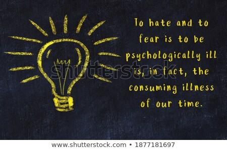 Nauczyć psychologia Tablica niebieski górę Zdjęcia stock © tashatuvango