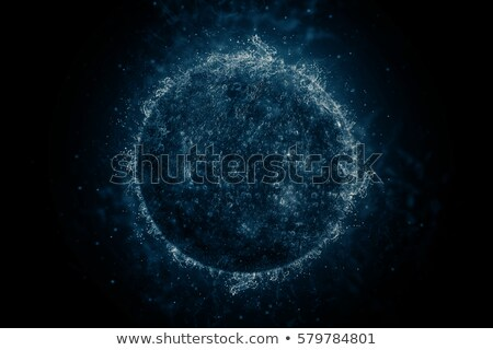 planet in water   mercury science fiction art stock photo © nasa_images