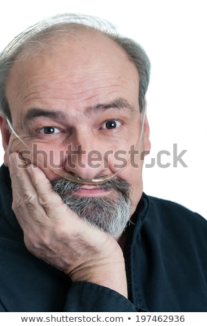 adult male with a breathing disability stock photo © rcarner