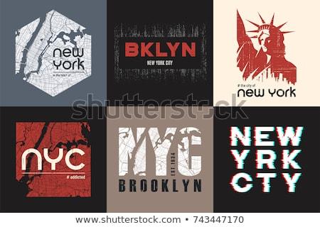 Novo tshirt gráficos tipografia emblema conjunto Foto stock © Andrei_