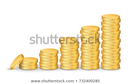 Stock fotó: Gold Coins Stacks Vector Realistic Isolated Illustration