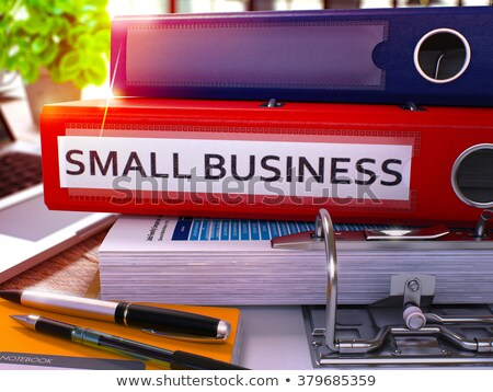 Small Business Ideas on Ring Binder. Blurred Image. Stock photo © tashatuvango