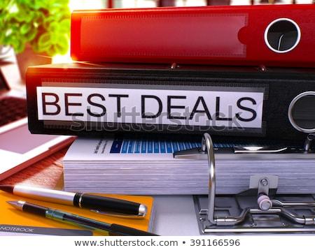 Black Office Folder with Inscription Best Deals. Stock photo © tashatuvango