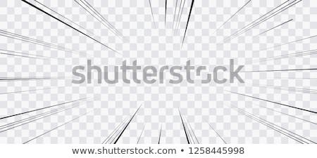 Komik beyaz patlama pop art Retro vektör Stok fotoğraf © studiostoks