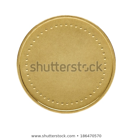 Bitcoin one gold coin. Isolated on white Stock photo © orensila