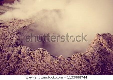 Stock fotó: Forró · sár · Bolívia · víz · mező · füst