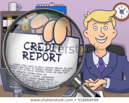reporting through lens doodle concept stock photo © tashatuvango