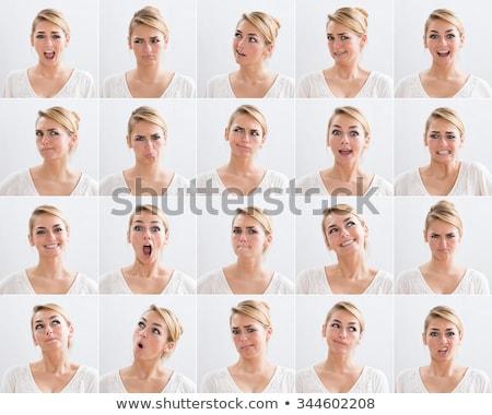 Wyraz twarzy kobieta twarz piękna usta Zdjęcia stock © keeweeboy
