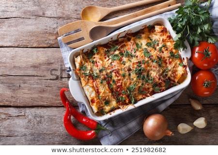 żywności · drewna · tle · makaronu · gotowania · obiad - zdjęcia stock © M-studio