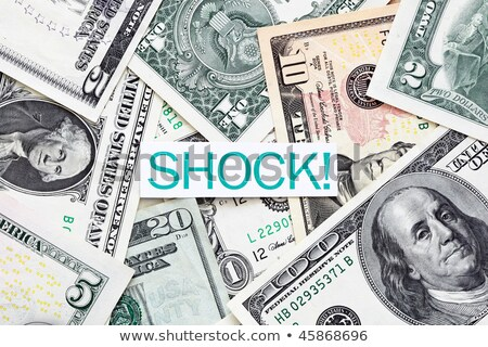 Schok label geld financieren dollar Stockfoto © ivelin