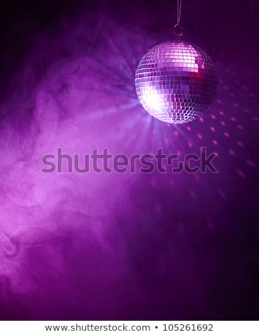 Violet disco ball with light rays Stock photo © Sonya_illustrations