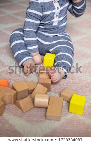 baby with toy building blocks stock photo © is2