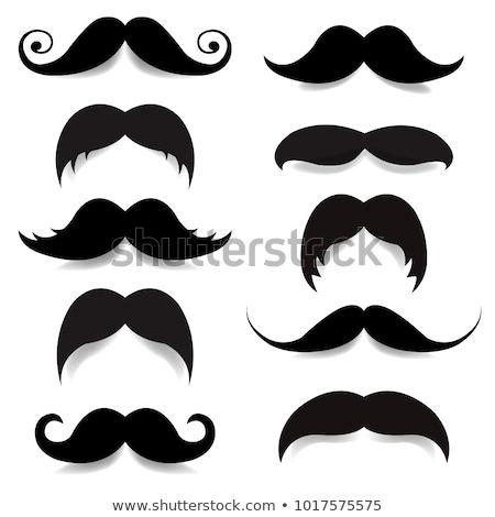 Herbe frontière moustache Pâques carte gradient Photo stock © adamson