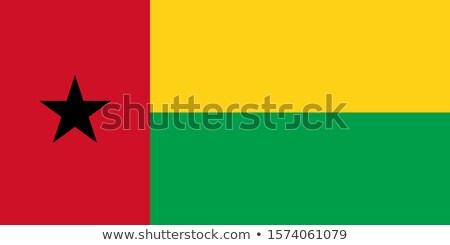 Gine bayrak beyaz soyut kalp dizayn Stok fotoğraf © butenkow