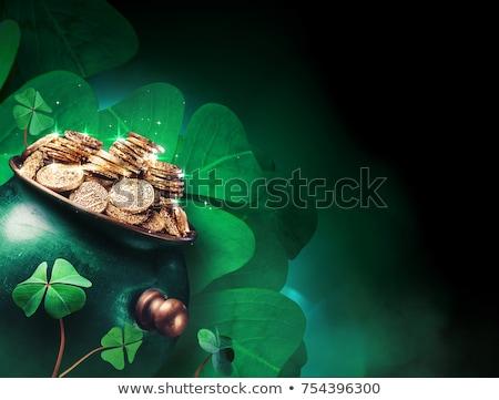 St Patricks Day Leprechaun and Pot of Gold Sign Stock photo © Krisdog
