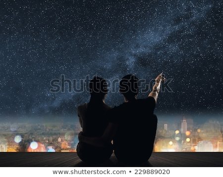 Couple regarder distance femme amour homme Photo stock © IS2
