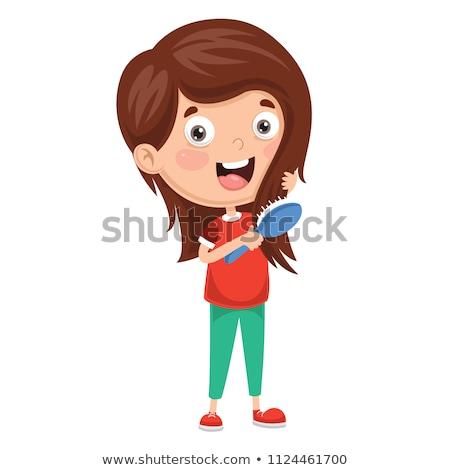 Tarak saç vektör karikatür örnek yalıtılmış Stok fotoğraf © RAStudio