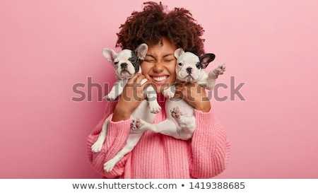 woman vet smiling and posing with a dog stock photo © wavebreak_media