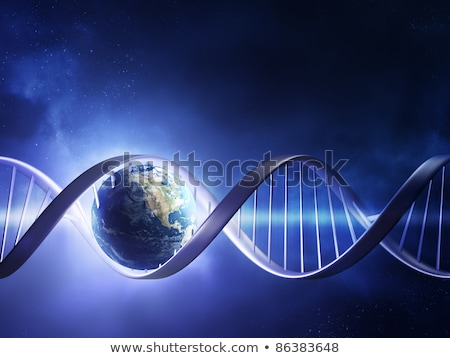 Illustrazione 3d abstract dna elica biologico blu Foto d'archivio © anadmist