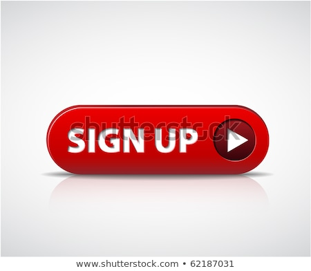 Big red sign up now button Stock photo © orson
