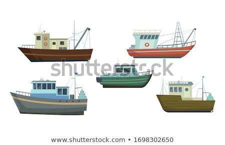 oude · vissersboot · rivier · wal · strand · zee - stockfoto © lizard