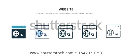 go home icon in different style stock photo © sidmay
