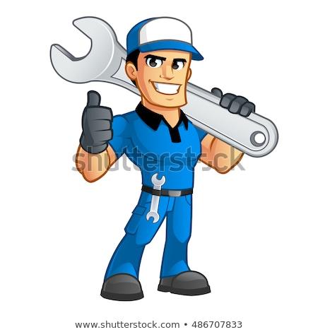 механиком · водопроводчика · гаечный · ключ - Сток-фото © krisdog