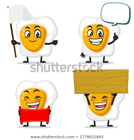 Praten ei cartoon mascotte karakter Stockfoto © hittoon