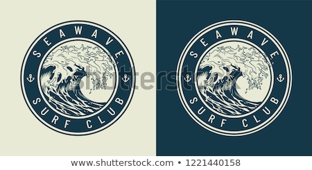 Water Wave symbol for apparel Logo. icon Template vector illustration stock photo © taufik_al_amin