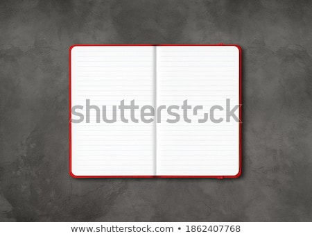 Blank open lined notebook isolated on dark grey Stock photo © daboost