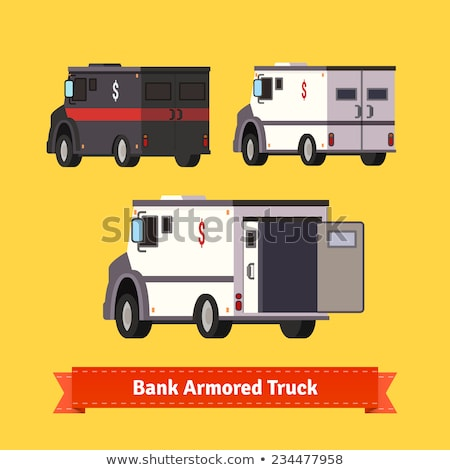 black armored truck vector template stock photo © yurischmidt
