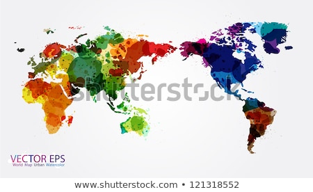 Earth illustration with blue planet. World map or globe background concept. Vector design for banner Stock photo © articular